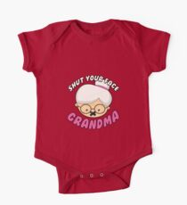 Shut Your Face Grandma Kids Clothes