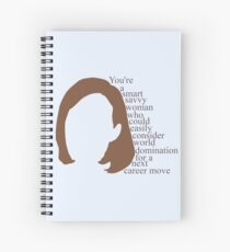 C.J. Cregg quote | You're a smart savy woman who could easily consider world domination for a next career move Spiral Notebook