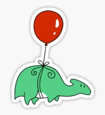 Balloon Hadrosaurid  Sticker