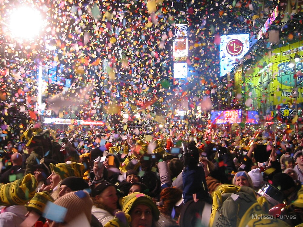 New Years Eve In Time Square by Melissa Purves