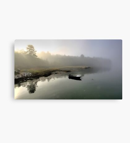 Boat - Morning Fog Canvas Print
