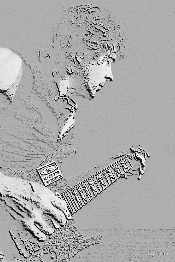 Chiseled Guitarist by daydremr