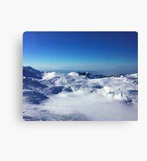 Alaska Snow Sky Canvas Print