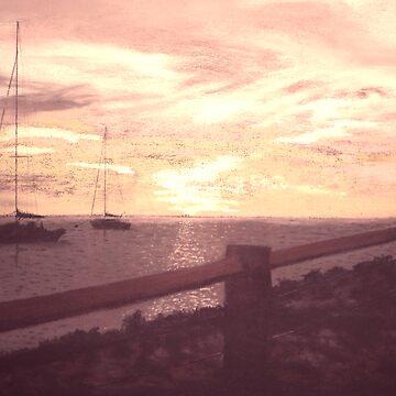 Sunset in Burgandy by Carolyn