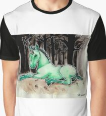 Dark Unicorn Foal Graphic T-Shirt