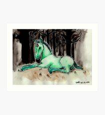Dark Unicorn Foal Art Print