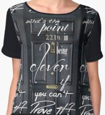 What's the Point in Being Clever...? Chiffon Top