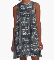 What's the Point in Being Clever...? A-Line Dress