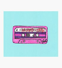 Mixed Tape Blue Photographic Print