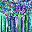 Dragonfly Bloomies 1 - Purple by Carol  Cavalaris