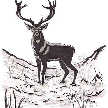 The deer by Dox-studio