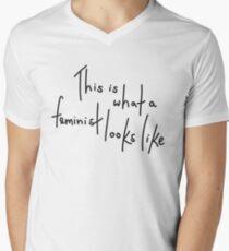 This is what a feminist looks like Men's V-Neck T-Shirt