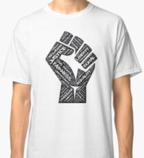 Civil Rights Black Power Fist Justice T-Shirt Classic T-Shirt