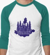 Walden - Henry David Thoreau (Blue version) Men's Baseball ¾ T-Shirt