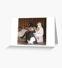 Angels and gladiators Greeting Card
