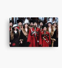 Tsar Nicholas II of Russia and his children with Cossack officers, 1916 Canvas Print