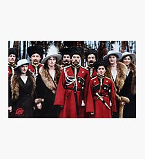 Tsar Nicholas II of Russia and his children with Cossack officers, 1916 Photographic Print