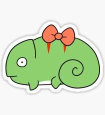 Bow Chameleon  Sticker
