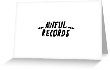 Awful records greeting cards by nick trnka redbubble awful records by nick trnka m4hsunfo