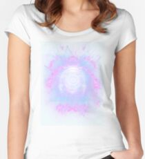 Abstract colossal space Sign! Women's Fitted Scoop T-Shirt