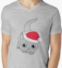 Christmas Cat Mens V-Neck T-Shirt
