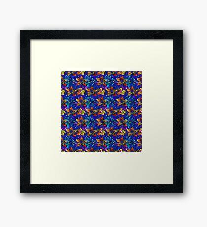 Tropical Paradise, Floral Pattern Framed Print
