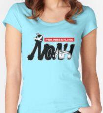 Camiseta entallada de cuello redondo Logotipo de Pro Wrestling Noah