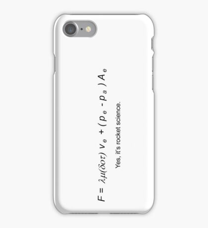 Rocket Science iPhone Case/Skin