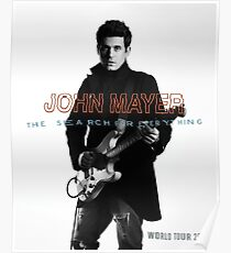 John Mayer The Search for Everything World Tour 2017 Poster