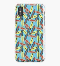 Funky Surfboard Repeating Pattern iPhone Case/Skin