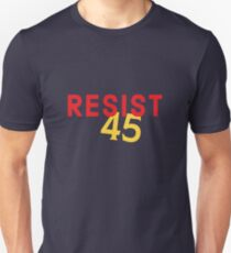 RESIST 45 - red & yellow Unisex T-Shirt
