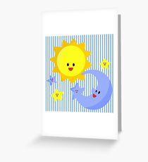 good morning, good night Greeting Card
