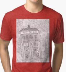 Police box doodle Tri-blend T-Shirt