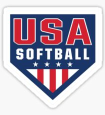 Vintage Team USA Softball Logo Sticker