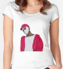 Ski Mask The Slump God Minimal Design Women's Fitted Scoop T-Shirt