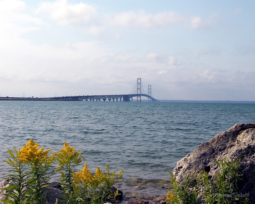 Mackinac Bridge Daytime by Thomas Sielaff