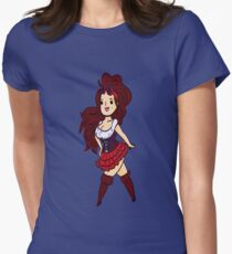 Damsel Girl Womens Fitted T-Shirt