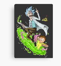Rick and Morty - Fan Art Canvas Print