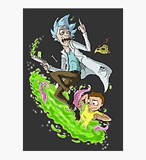 Rick and Morty - Fan Art Photographic Print
