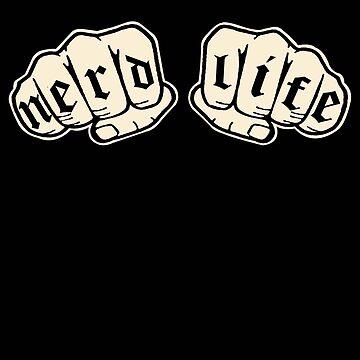 Nerd Life - Knuckle Tattoo by SaintSinnerShop