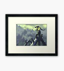 Skyrim- Dragon Attack Framed Print