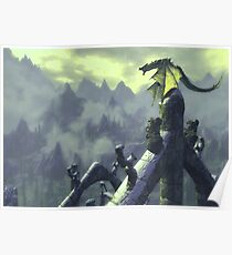 Skyrim- Dragon Attack Poster