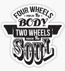 Two Wheels Move the Soul: Black Sticker