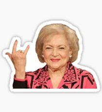 betty white rock on Sticker