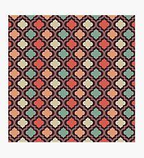 Retro pattern decorative art Photographic Print