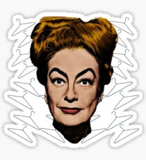Joan Crawford- No Wire Hangers! Sticker