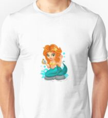 A Cute little mermaid and a compass Unisex T-Shirt
