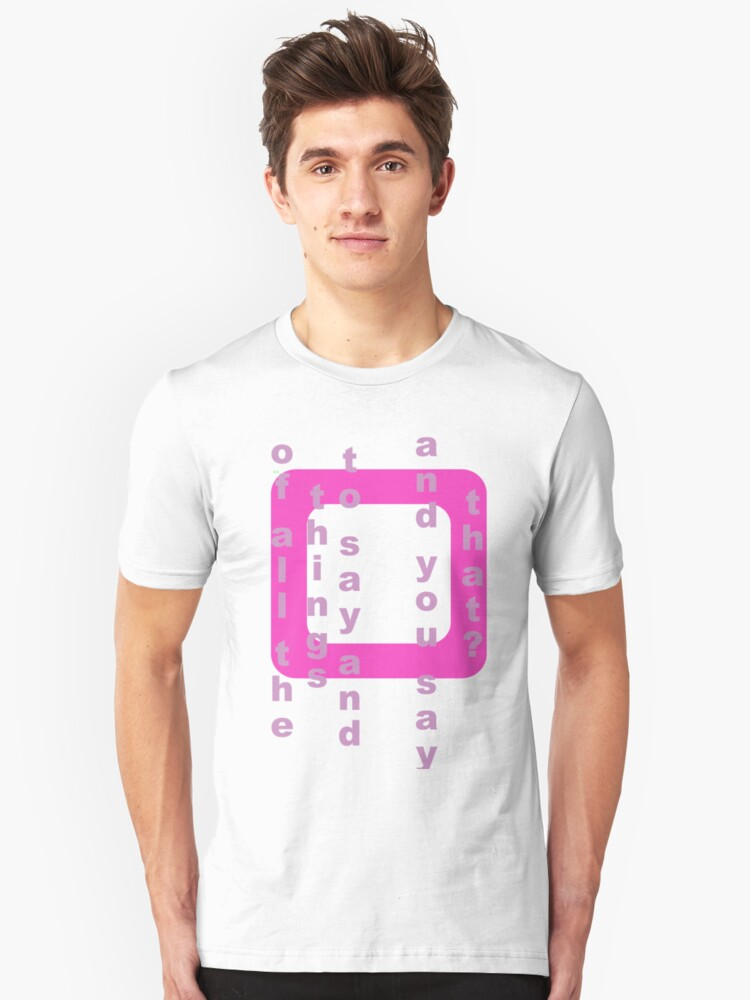 Think Pink Unisex T-Shirt Front
