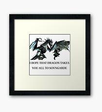 Skyrim - Sonvgarde  Framed Print