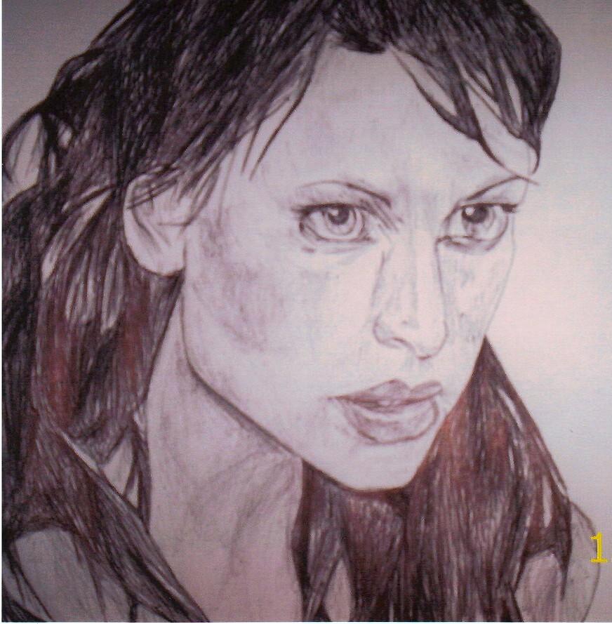 woman in pen by diamondscorpio12